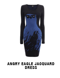 Angry Eagle Jacquard Dress