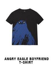 Angry Eagle Boyfriend T-shirt