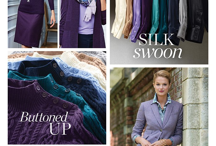 Silk Swoon. Buttoned Up.