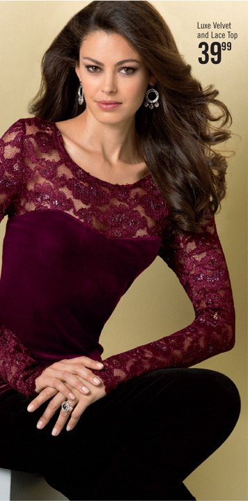 Luxe Velvet and Lace Top