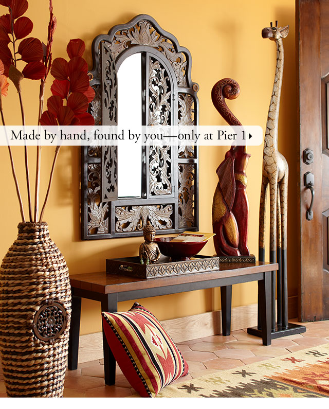 Pier 1 if it 39 s hip handcrafted and totally you it must for African american furniture designers