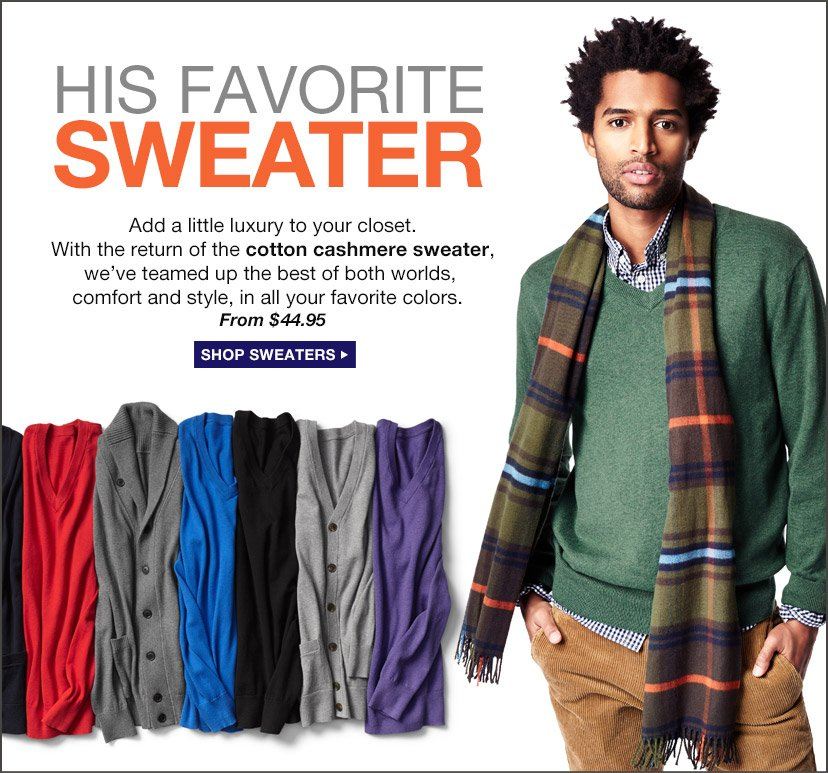 HIS FAVORITE SWEATER   SHOP SWEATERS