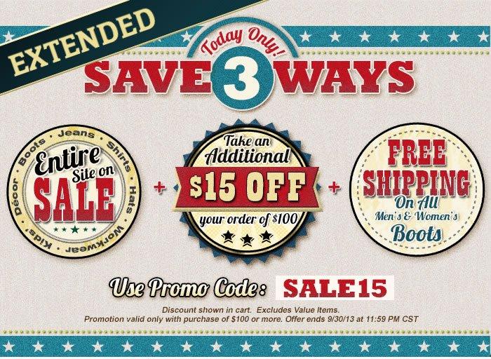 Save 3 Ways