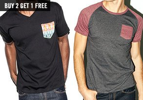 Shop Stock Up on Tees: Buy 2, Get 1 Free