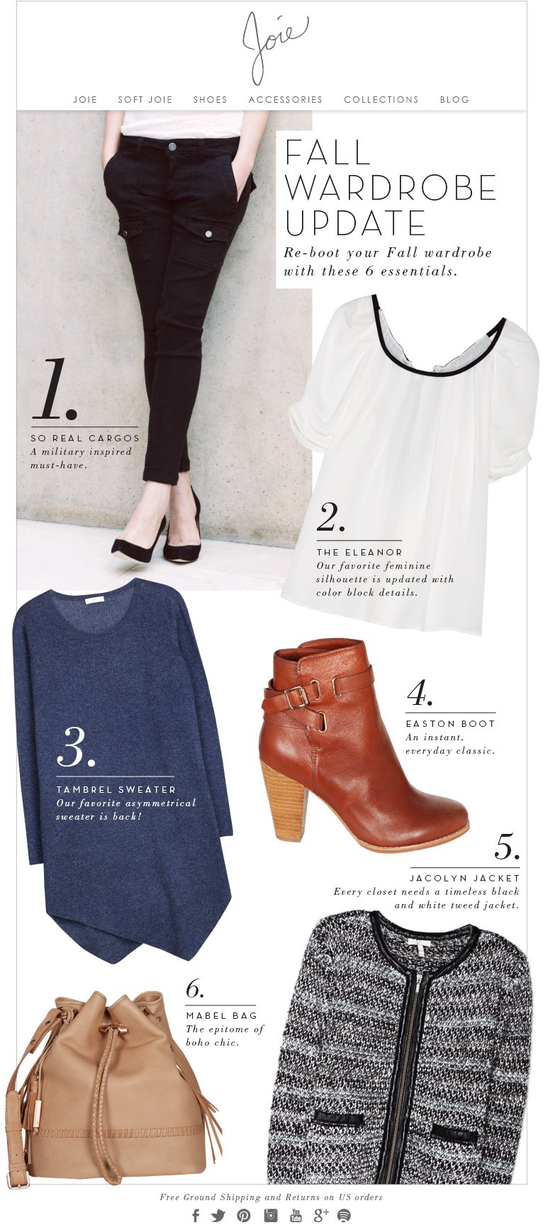JOIE | FALL WARDROBE UPDATE. Re-boot your Fall wardrobe with these 6 essentials.