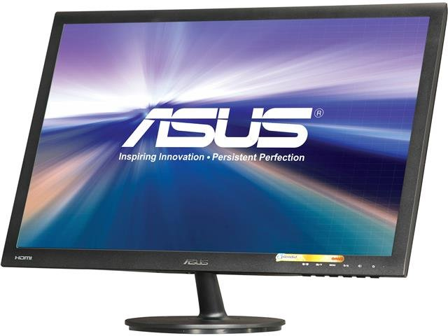 ASUS VS24AH-P Black 24 inch 5ms (GTG) HDMI Widescreen LED Backlight LCD Monitor IPS 300 cd/m2 80,000,000:1