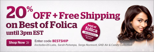 20% OFF + Free Shipping on Best of Folica