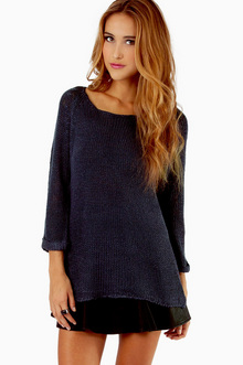 LOOSELY ADDED KNIT SWEATER 42