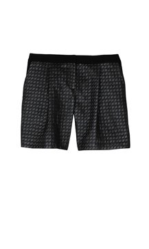 Quilted Lurex Jacquard Shorts