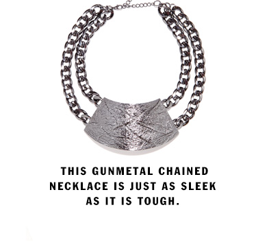 Gunmetal Chained Necklace