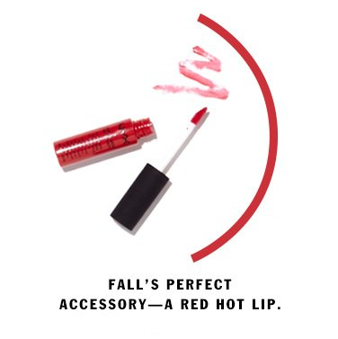 Fall's perfect accessory - a red hot lip