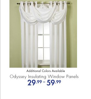 Odyssey Insulating Window Panels 29.99-59.99 Additional Colors Available