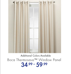 Boca Thermosave(TM) Window Panel 34.99-59.99 Additional Colors Available