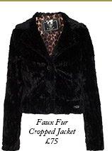 Faux Fur Cropped Jacket