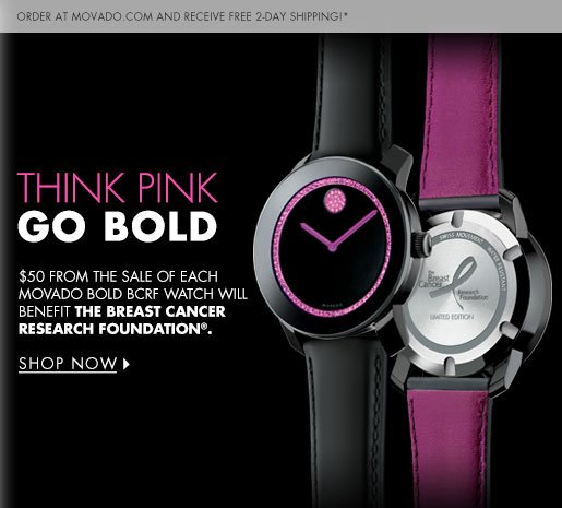 THINK PINK GO BOLD
