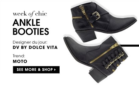 ANKLE BOOTIES. SEE MORE & SHOP