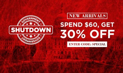 Get an extra 30% off new arrivals.  Click to buy.