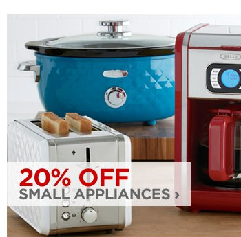 20% OFF SMALL APPLIANCES ›
