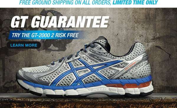 The GT Guarantee, Try the GT-2000 2 Risk Free™ - Hero