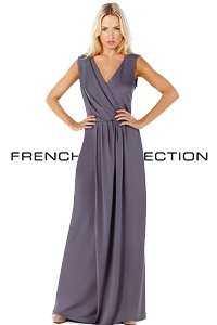 French Connection Grey Cross Over Maxi Dress