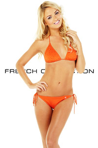 French Connection Orange Jewelled Bikini