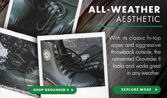 With its classic hi-top upper and aggressive throwback outsole, the reinvented Grounder II