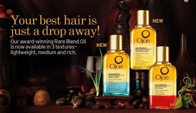Your best hair is just a drop away Our award winning Rare Blend Oil is now available in 3 textures lightweight medium and rich