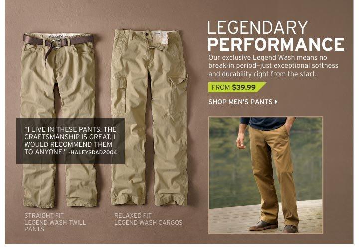 Straight Fit Legend Wash Twill Pants