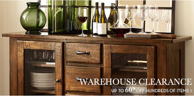 WAREHOUSE CLEARANCE - UP TO 60% OFF HUNDREDS OF ITEMS