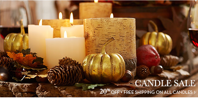 CANDLE SALE - 20% OFF + FREE SHIPPING ON ALL CANDLES