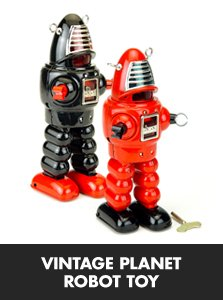 Vintage Planet Robot Toy