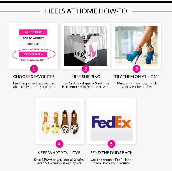 Try On 3 Pairs of Shoes For Free!