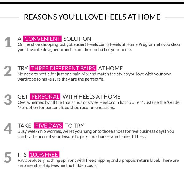 Top 5 Reasons Why You'll Love Heels At Home