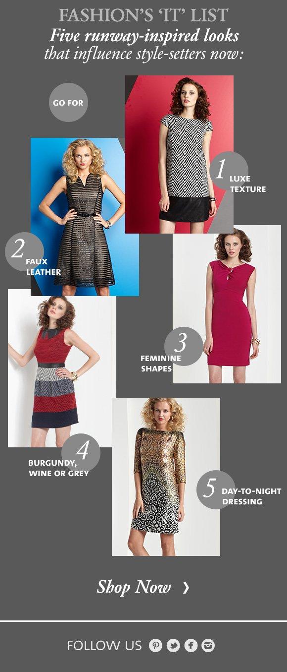 Fashion's 'IT' List