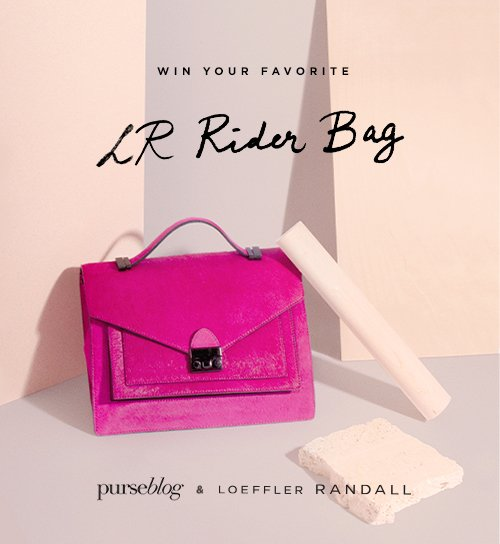 Enter for a chance to win your favorite LR Rider Bag in celebration of the Rider's 1 year Anniversary hosted by Purseblog & LoefflerRanadall