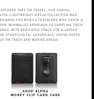 Alpha Money Clip Card Case - Shop Now