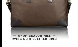 Beacon Hill Irving Slim Leather Brief - Shop Now