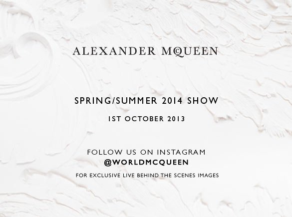 Spring/Summer 2014 Show. Follow us on Instagram for exclusive, live, behind the scenes images