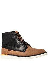 The Breton Boot in Brown & Black