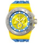 Invicta 12321 Men's Akula Diver Yellow Blue Dial Silicone Strap Chronograph Watch