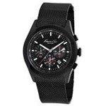 Kenneth Cole KC9183 Men's New York Black Dial Black IP Mesh Bracelet Chronograph Watch