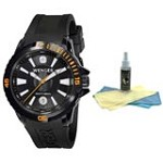 Wenger Men's Swiss Made GST Series Dive 300M Watch 78275 with 30ml Ultimate Watch Cleaning Kit