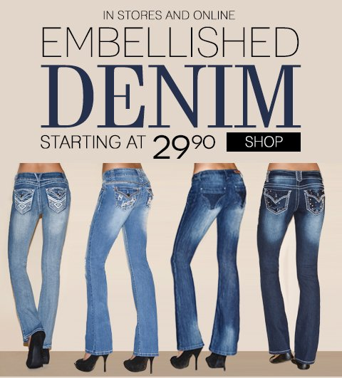 Free Shipping with any regular price denim purchase