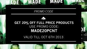 Made 20 PCNT discount
