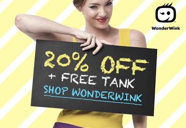 20% Off + Free Tank with WonderWink
