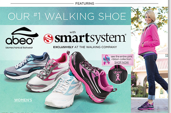 Walk comfortably in the advanced comfort of ABEO SMARTsystem walking shoes for men and women. Exclusively at The Walking Company, ABEO SMARTsystem features unique technology developed at Stanford University. Save $25 on your next The Walking Company purchase when you buy ABEO today!* Find the best selection at The Walking Company.