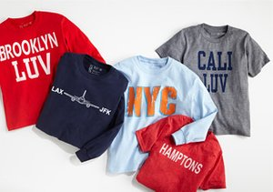 Layer Up:  T-Shirt Shop for Boys