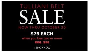 TULLIANI BELT SALE | SHOP NOW