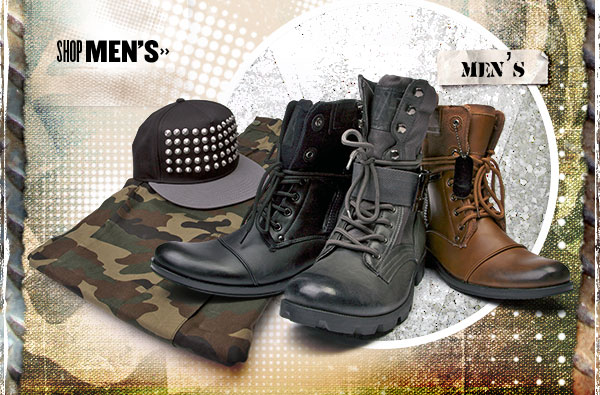 Go Commando in Mens Combat Boots.