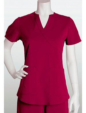 by Barco Mock Wrap Scrub Top